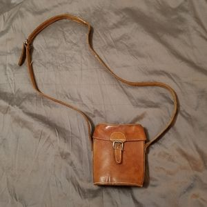 Vintage Gypsy Leather Crossbody Mini Bucket Bag